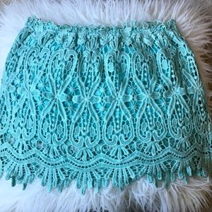 Oxford Circus Lace Mint Skirt